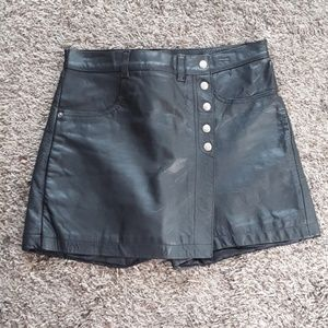 Real Leather Skort